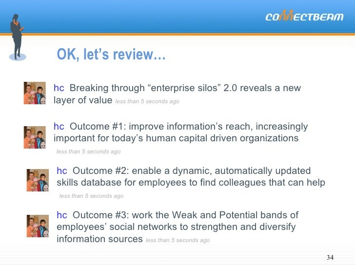 """OK, let's review… hc   Breaking through """"enterprise silos"""" 2.0 reveals a new layer of value  less than 5 seconds ago hc   ..."""