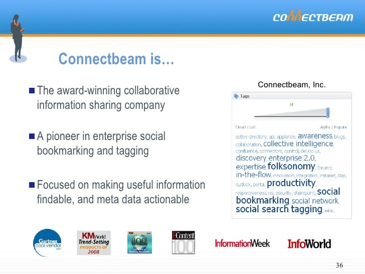 Connectbeam is… <ul><li>The award-winning collaborative information sharing company </li></ul><ul><li>A pioneer in enterpr...