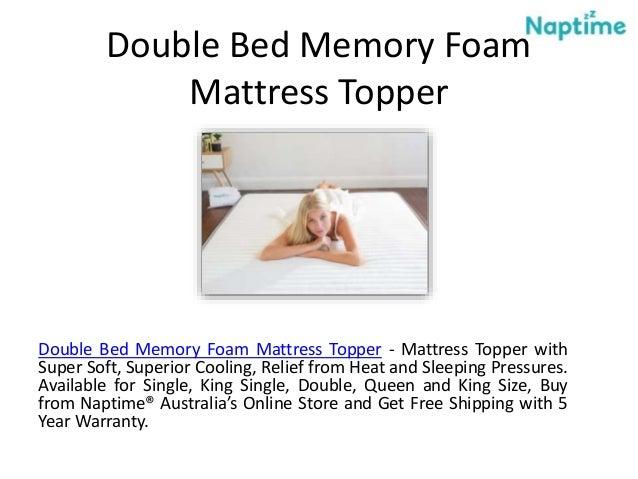 Double Bed Memory Foam Mattress Topper