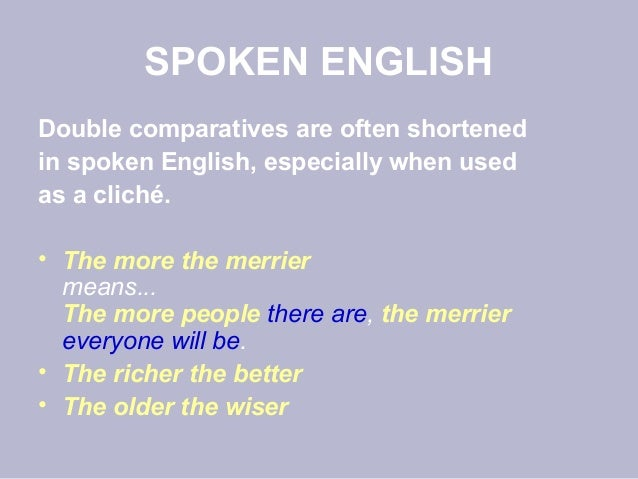 double comparative grammar