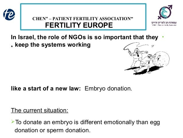 Double gamete and embryo donation  Israel Slide 3