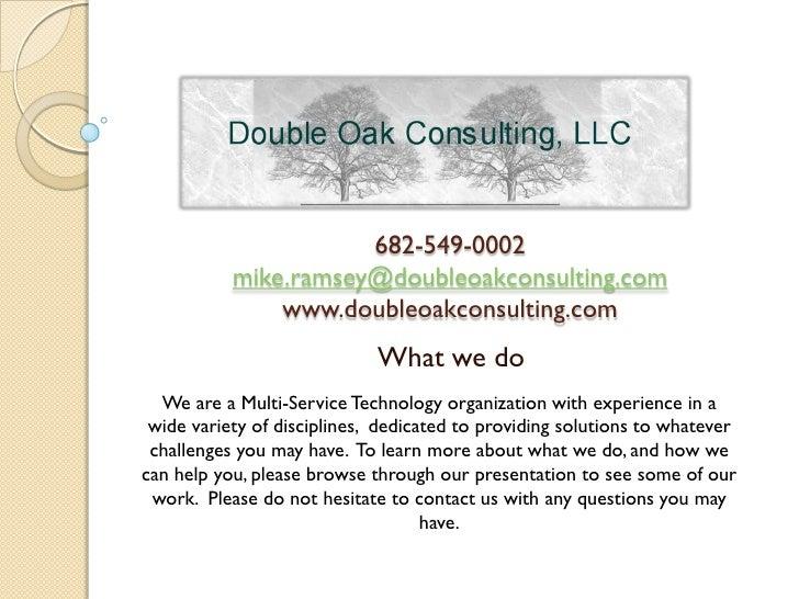682-549-0002            mike.ramsey@doubleoakconsulting.com                www.doubleoakconsulting.com                    ...