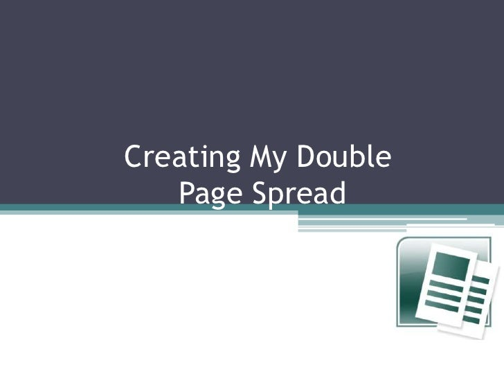 Creating My Double Page Spread