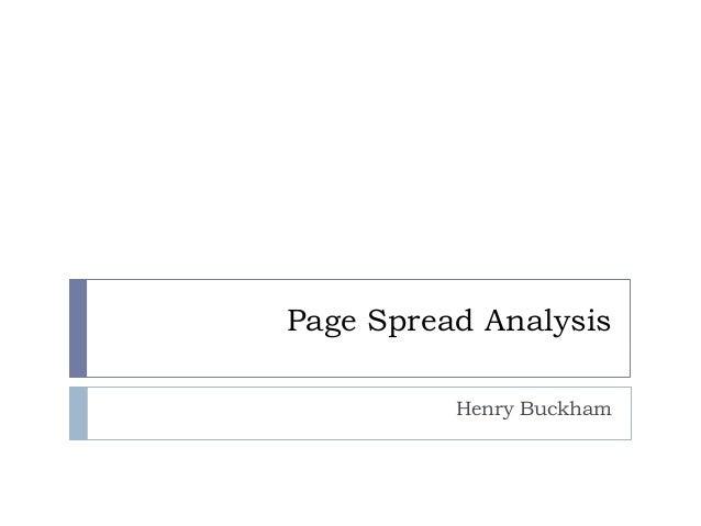 Page Spread Analysis Henry Buckham
