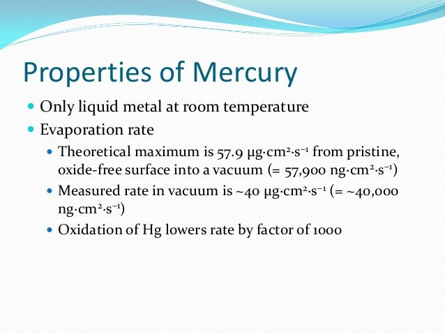 Is Hg And Ag Liquid At Temperature Room