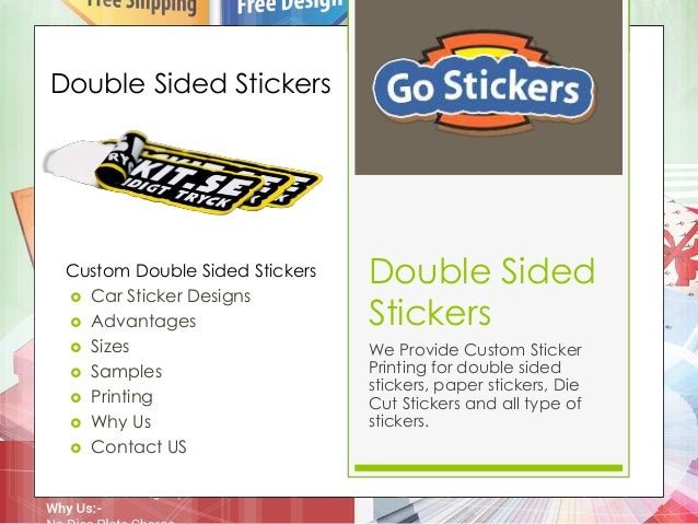 Double sided stickers we provide custom sticker printing for double sided stickers paper stickers