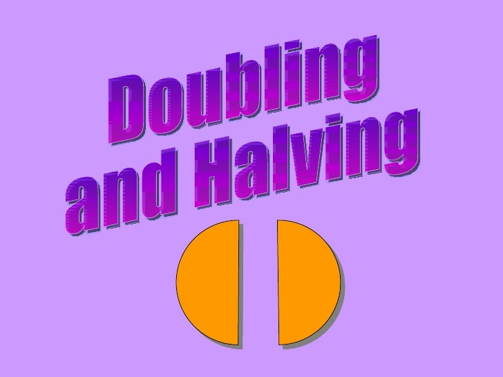 Image result for doubling and halving