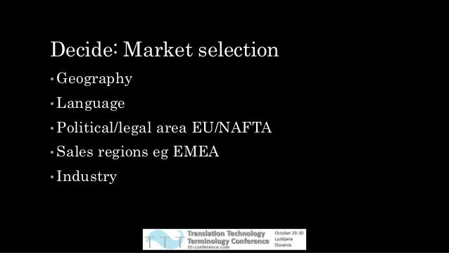 EMEA example • Who many countries? Approximately 116 • Largest country by population? Nigeria 182m • Language? English ...