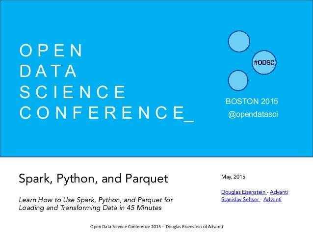 Spark, Python and Parquet