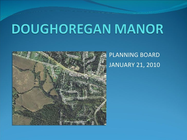PLANNING BOARD JANUARY 21, 2010