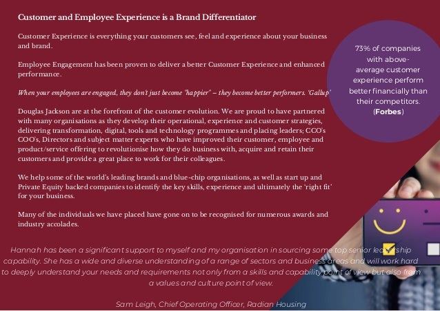 Douglas jackson brochure   sourcing and supporting exceptional talent. Slide 3
