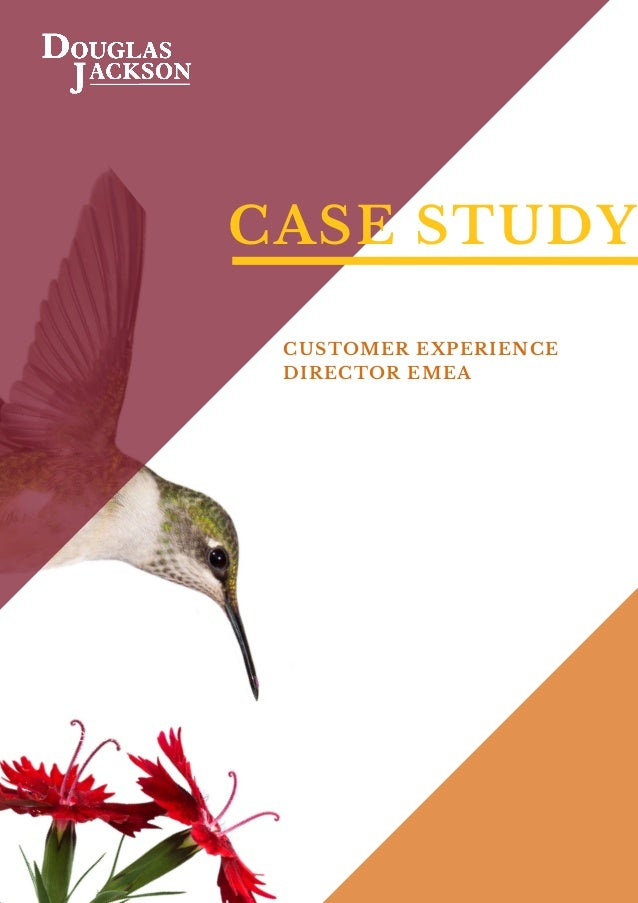 CASE STUDY CUSTOMER EXPERIENCE DIRECTOR EMEA Foreword by
