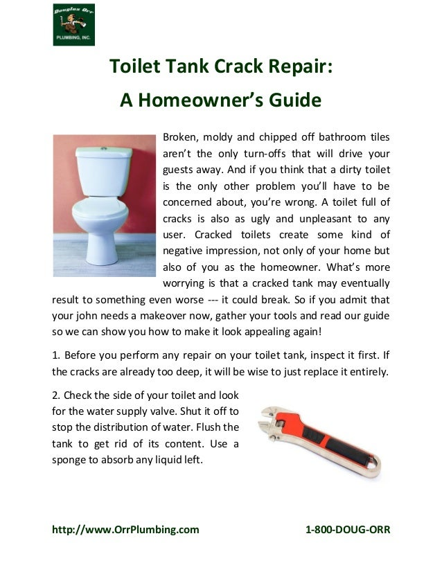 Toilet tank crack repair a homeowner s guide for How to fix a leaking fish tank