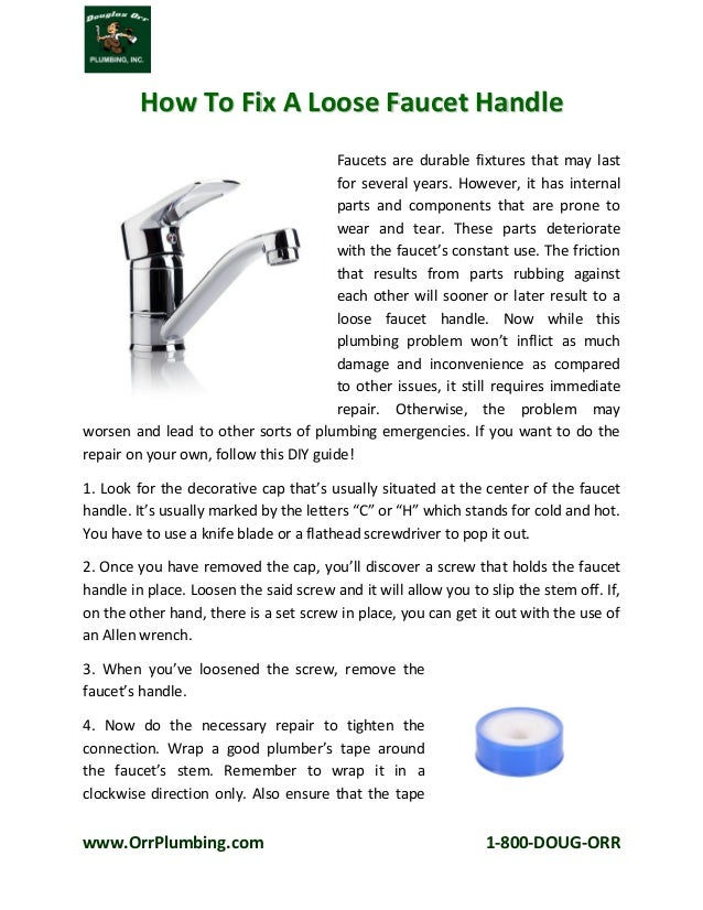 How To Fix A Loose Faucet Handle