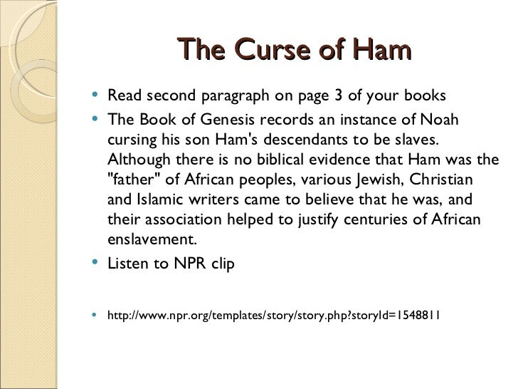 Douglass 2 Curse Of Ham And Ch 6 7