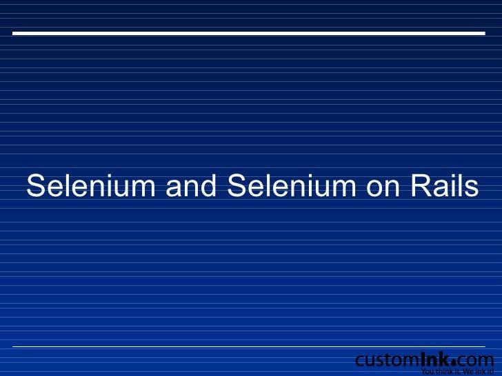 Selenium and Selenium on Rails