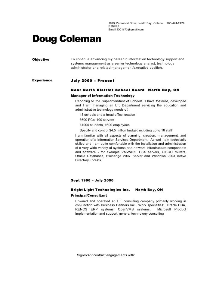 dougs resume no references