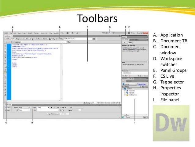 Adobe dreamweaver cs5 basics for Dreamweaver app templates