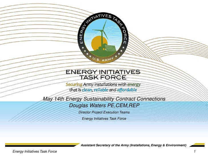 May 14th Energy Sustainability Contract Connections                             Douglas Waters PE,CEM,REP                 ...