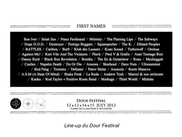 Line-up du Dour Festival
