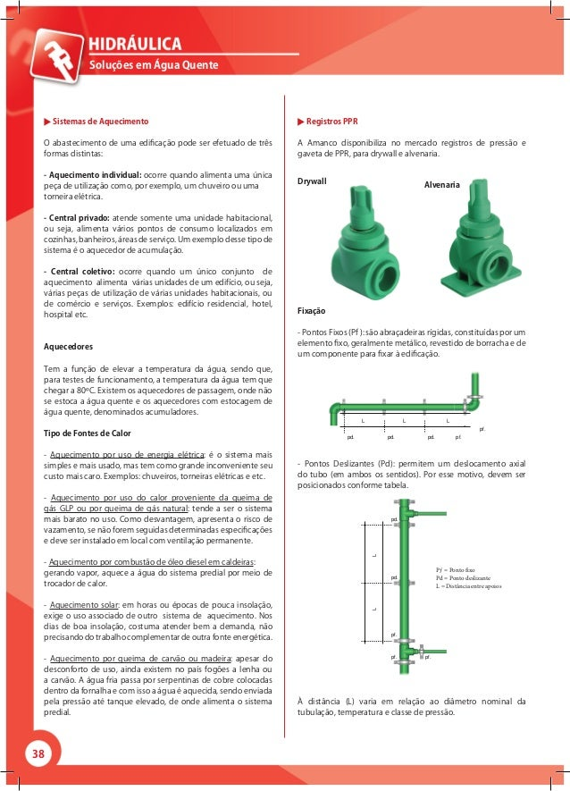 38 Soluções em Água Quente Sistemas de Aquecimento O abastecimento de uma edificação pode ser efetuado de três formas dist...