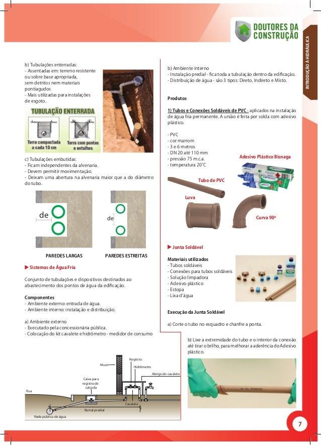 7 b) Tubulações enterradas: - Assentadas em: terreno resistente ou sobre base apropriada, sem detritos nem materiais ponti...