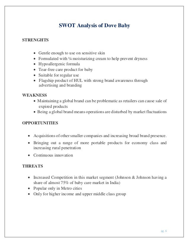 swot analysis of dettol Table of contents chapter 1 executive summary chapter 2 abbreviation and acronyms chapter 3 preface 31 research scope 32 research methodology 321 data collection.