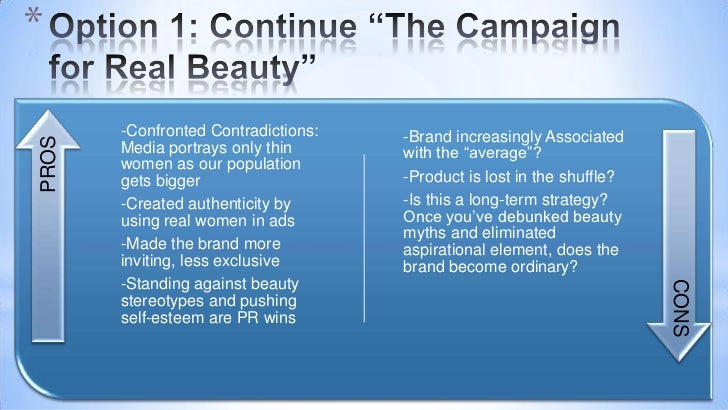 case analysis of unilever s real beauty campaign for dove Beginning in 2004, dove a division of unilever, started to send out a radically different message when the brand launched its campaign for real beauty the first step in dove's campaign, a tactic to support its skin-firming cream, introduced the nation to billboards that showed unretouched photographs of normal women of various sizes in.