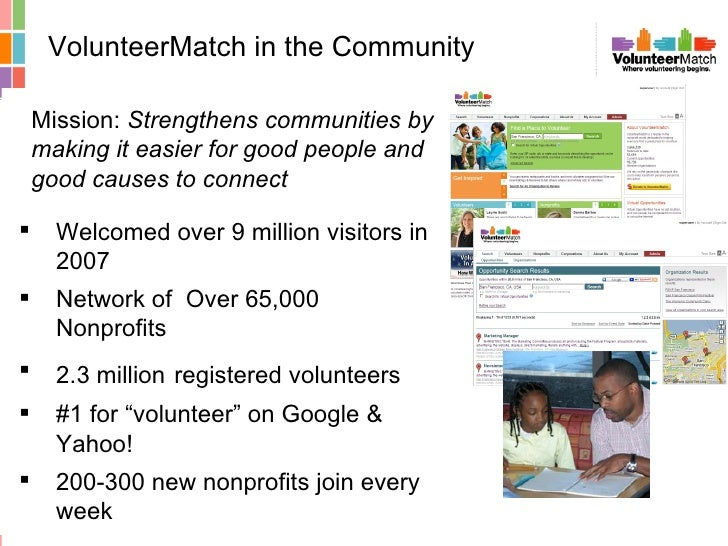 <ul><li>Welcomed over 9 million visitors in 2007 </li></ul><ul><li>Network of  Over 65,000 Nonprofits </li></ul><ul><li>2....