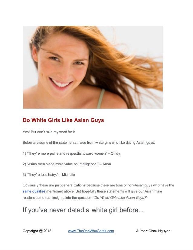 Do white girls like asians
