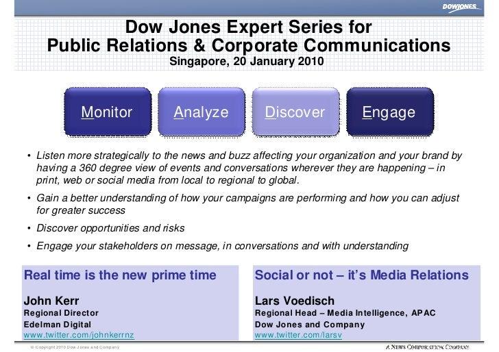 Dow Jones Expert Series for         Public Relations & Corporate Communications                                           ...