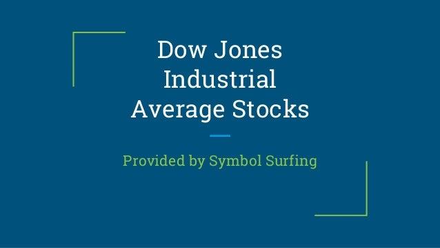Dow Jones Industrial Average Djia Stocks