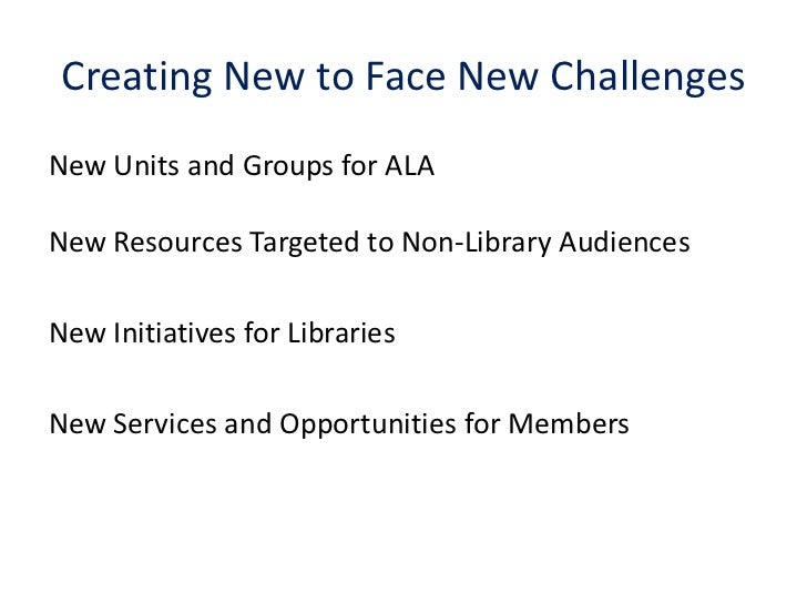 Working for the future of the Association : success stories of ALA the American Library Association Slide 3