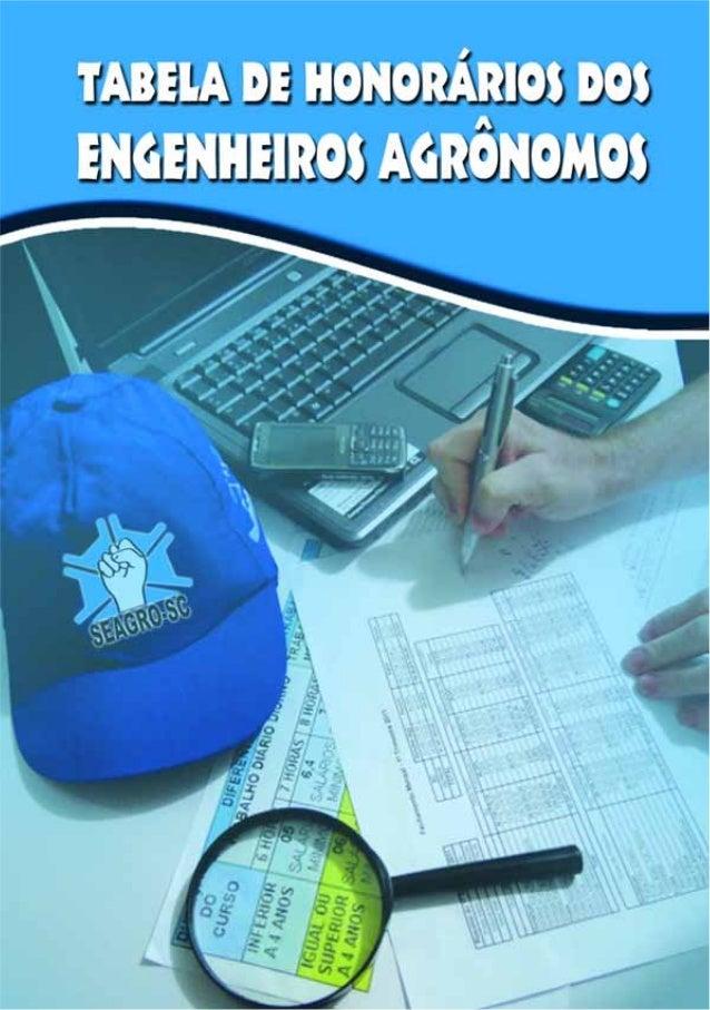 02 - TABELA DE HONORÁRIOS DOS ENGENHEIROS AGRÔNOMOS