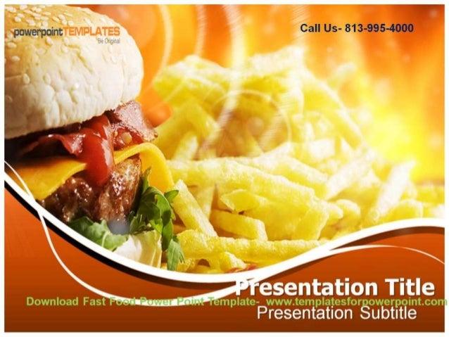 online downaload fast food powerpoint template, Modern powerpoint