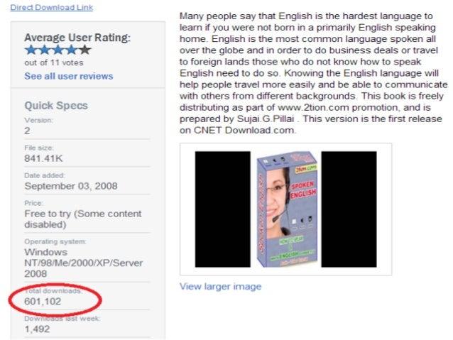 1 million downloaded Spoken English e-book