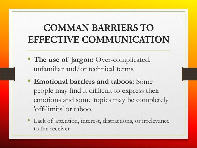 barriers of verbal communication