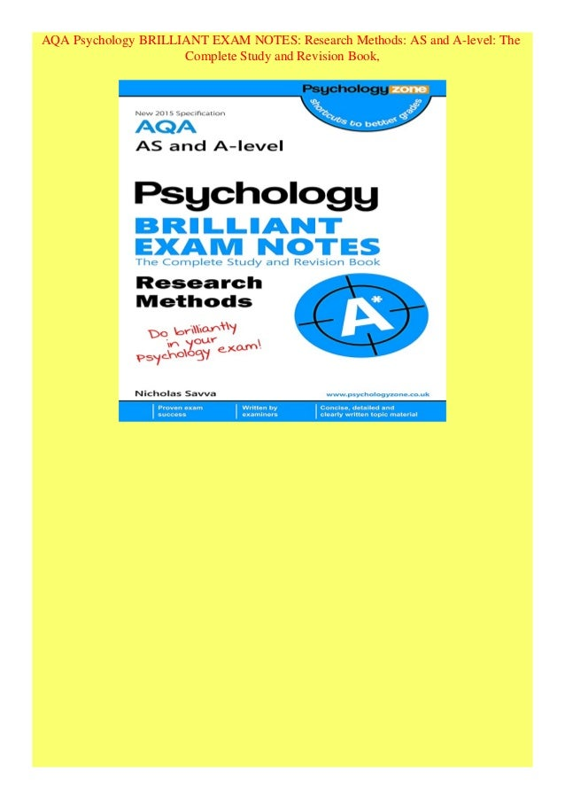 aqa psychology research methods past papers