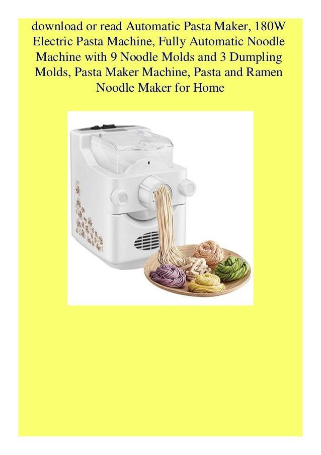 Download Automatic Pasta Maker 180w Electric Pasta Machine Fully Au