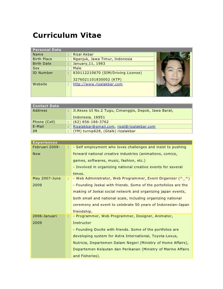 Curriculum Vitae Download Doc Kalde Bwong Co