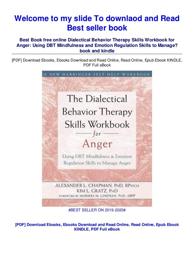 E Book P.D.F The Dialectical Behavior Therapy Skills Workbook for Anger