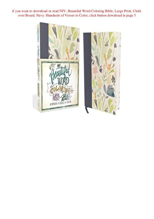 Download Ebook Niv Beautiful Word Coloring Bible Large Print Cloth