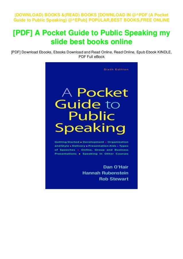download in @^pdf (a pocket guide to public speaking) @^epub]  slideshare
