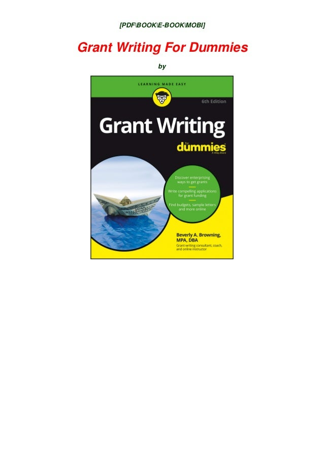 Grant writing for dummies pdf free download