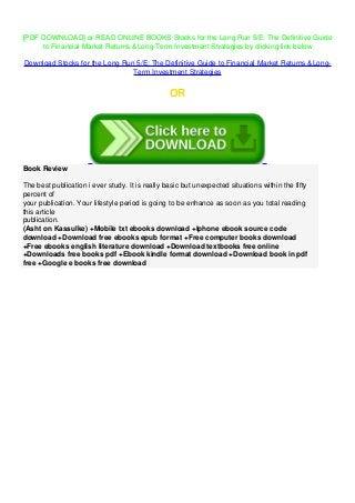 The long run pdf free download