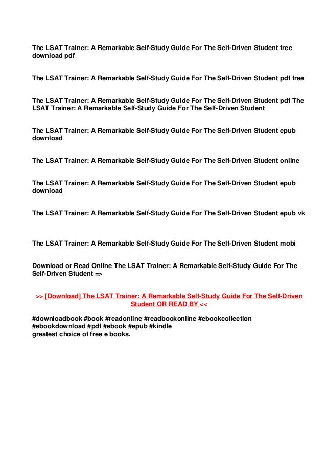 Lsat trainer free pdf the Download [PDF]