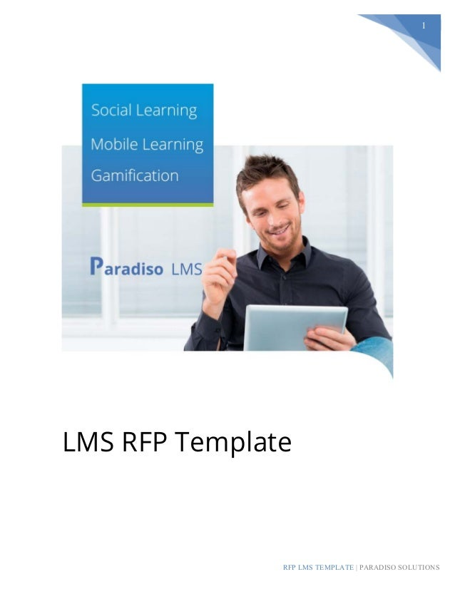 RFP LMS TEMPLATE | PARADISO SOLUTIONS 1 LMS RFP Template