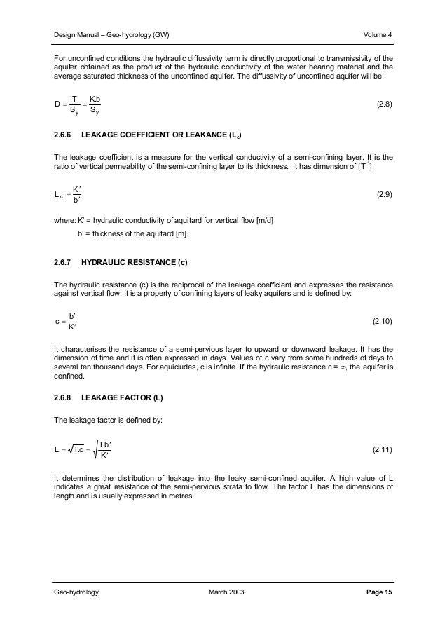 Download Manuals Ground Water Manual Gw Volume4designmanualgeo Hydro