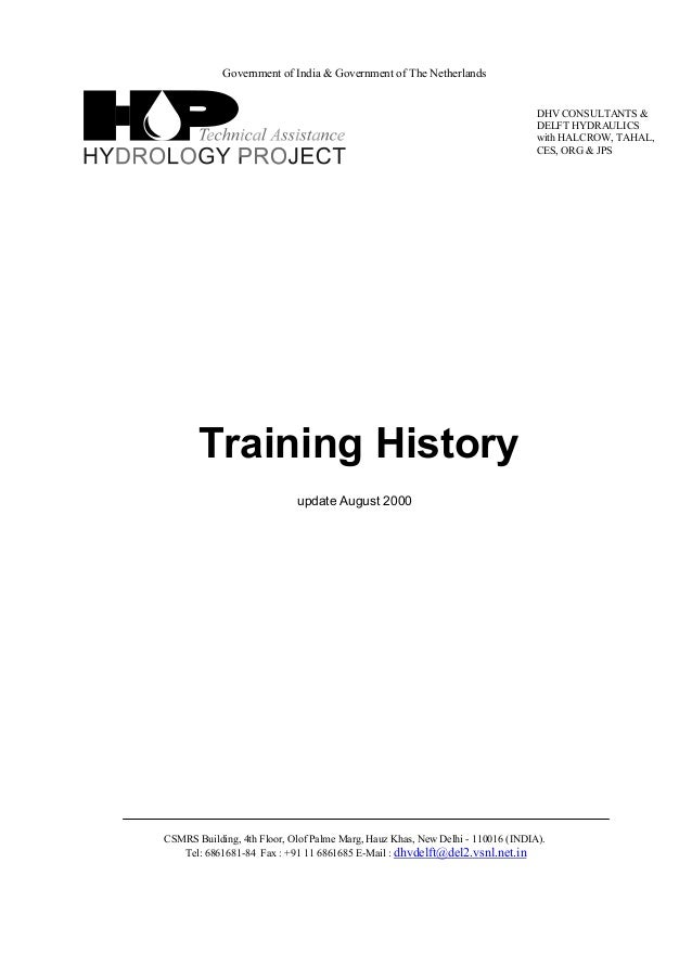 Download-manuals-training-training history