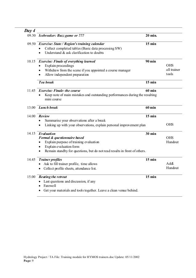 Downloadmanualstrainingtrainingmodulefor hymostrainers 1 – Retreat Evaluation Form